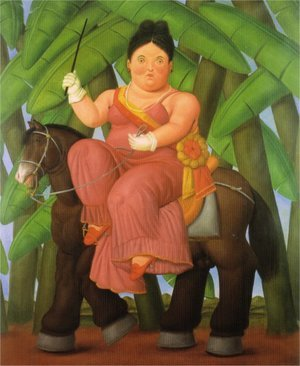 Reproduction oil paintings - Fernando Botero - The First Lady