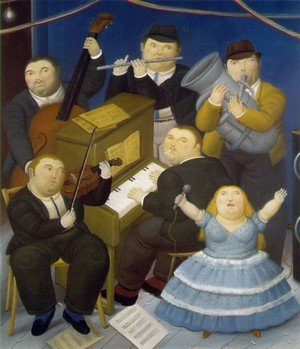 Reproduction oil paintings - Fernando Botero - The Musicians