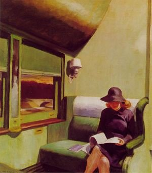 Reproduction oil paintings - Edward Hopper - Compartment Car