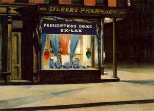 Reproduction oil paintings - Edward Hopper - Drug Store