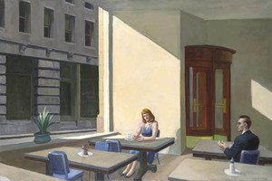 Famous paintings of Cafes & Bistros: Sunlights in Cafeteria