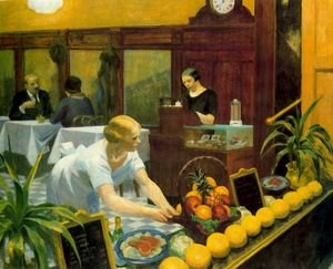 Reproduction oil paintings - Edward Hopper - Tables for Ladies