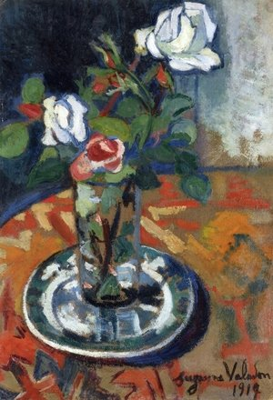 Reproduction oil paintings - Suzanne Valadon - Roses in a Vase