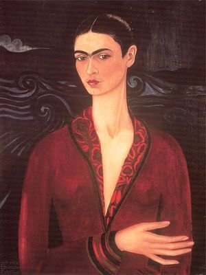 Self-portrait in a Velvet Dress
