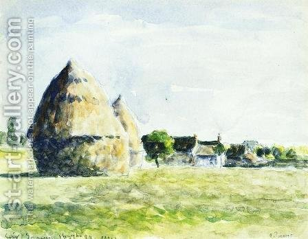 Haystacks I by Camille Pissarro - Reproduction Oil Painting