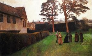 Famous paintings of Other: A Game of Bowls, Ightham Mote, Kent