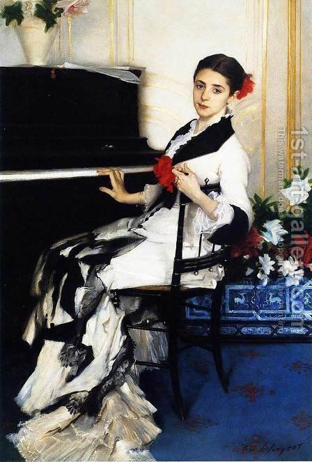 Sargent: Madame Ramon Subercaseaux - reproduction oil painting