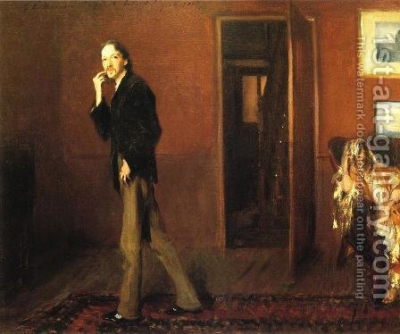 Sargent: Robert Louis Stevenson and His Wife - reproduction oil painting