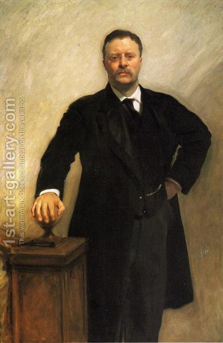 President Theodore Roosevelt by Sargent - Reproduction Oil Painting