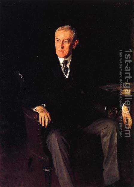 Sargent: President Woodrow Wilson - reproduction oil painting