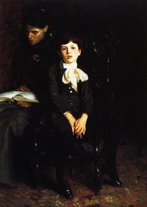 Reproduction oil paintings - Sargent - Homer Saint-Gaudens and His Mother