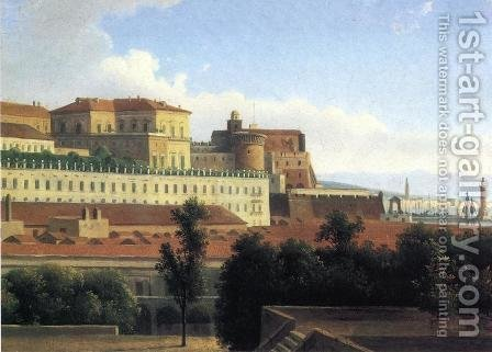 The Palazzo Reale and the Harbor, Naples by Alexandre-Hyacinthe Dunouy - Reproduction Oil Painting