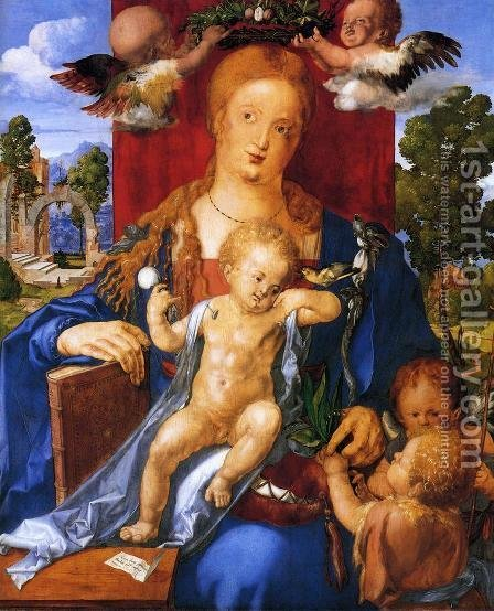 Madonna with the Siskin I by Albrecht Durer - Reproduction Oil Painting