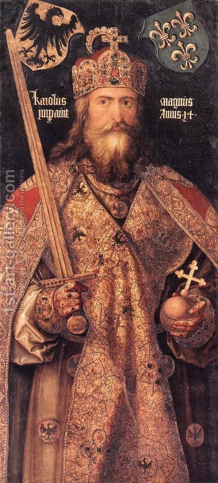 Emperor Charlemagne by Albrecht Durer - Reproduction Oil Painting
