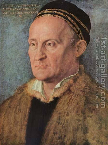 Portrait of Jakob Muffel by Albrecht Durer - Reproduction Oil Painting