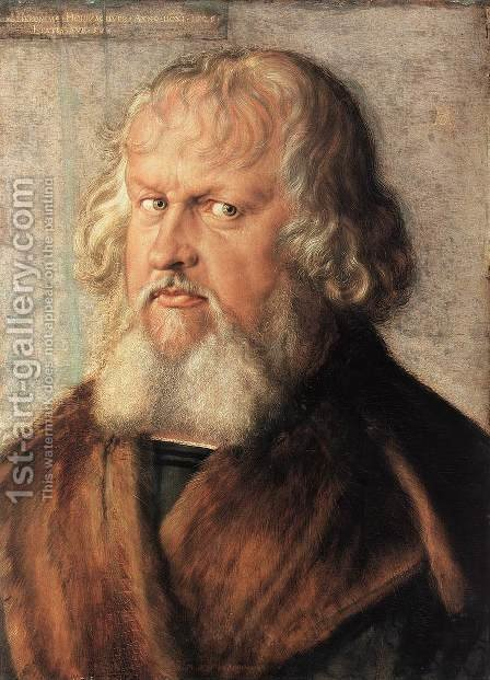 Portrait of Hieronymus Holzschuher by Albrecht Durer - Reproduction Oil Painting