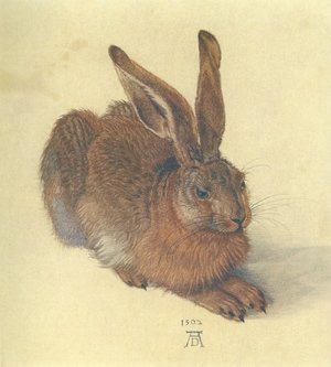 Famous paintings of Domestic Animals: Young Hare I