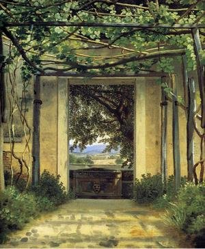 Famous paintings of Doorways & Gates: A Pergola