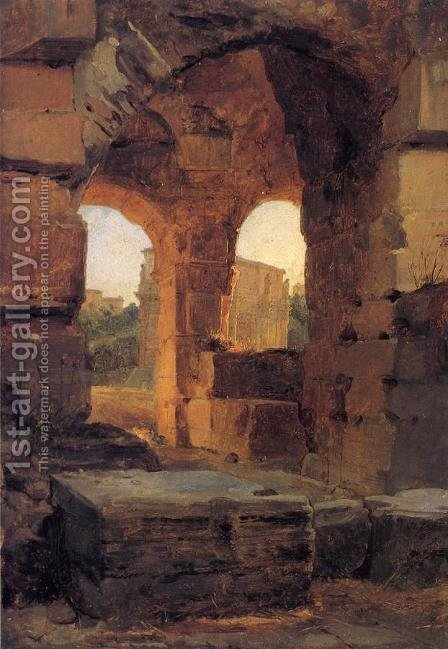 Arches of the Colosseum by Achille-Etna Michallon - Reproduction Oil Painting