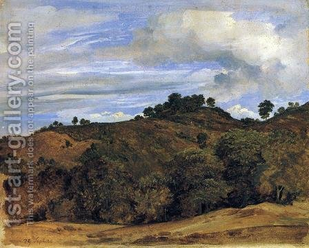 Landscape near Olevano: La Serpentara by Heinrich Reinhold - Reproduction Oil Painting