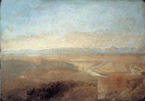 Reproduction oil paintings - Turner - Hill Town on the Edge of the Campagna