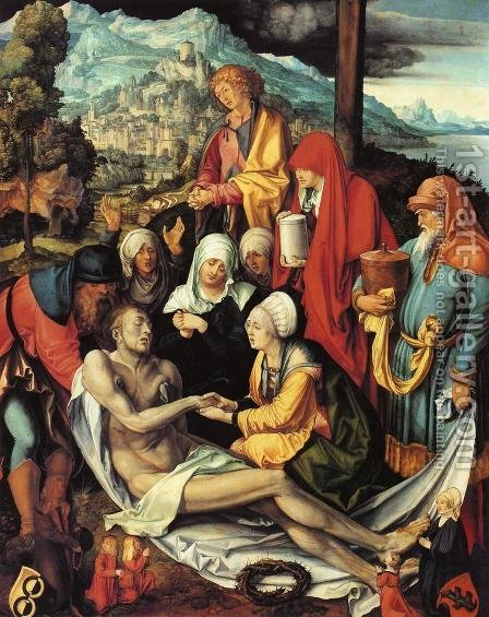 Lamentation for Christ I by Albrecht Durer - Reproduction Oil Painting