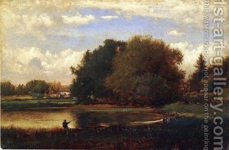 Landscape I by George Inness - Reproduction Oil Painting