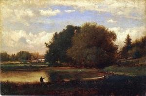 Reproduction oil paintings - George Inness - Landscape I