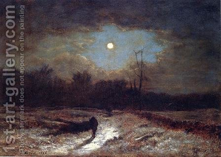 Christmas Eve by George Inness - Reproduction Oil Painting