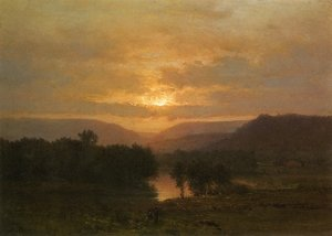 Reproduction oil paintings - George Inness - Sunset I