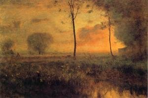 Reproduction oil paintings - George Inness - Sunset at Montclair