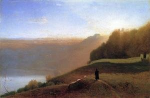 Reproduction oil paintings - George Inness - Lake Nemi