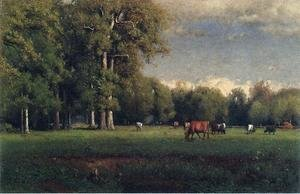 Reproduction oil paintings - George Inness - Landscape with Cattle