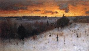 Reproduction oil paintings - George Inness - Winter Evening