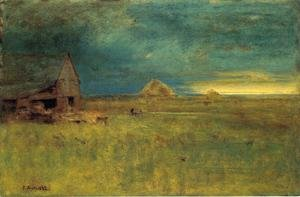 Reproduction oil paintings - George Inness - The Lone Farm, Nantucket