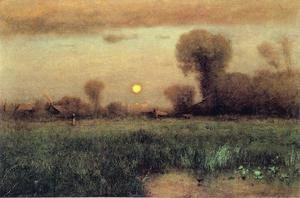 Reproduction oil paintings - George Inness - Harvest Moon I