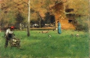 Reproduction oil paintings - George Inness - The Old Barn
