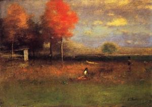 Reproduction oil paintings - George Inness - Indian Summer