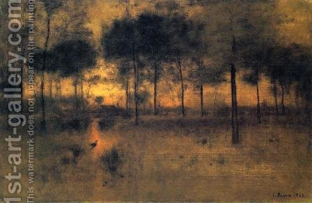 George Inness: The Home of the Heron - reproduction oil painting