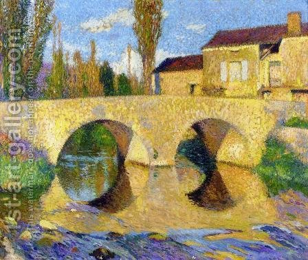The Pont de la Bastiide-du-Vert by Henri Martin - Reproduction Oil Painting