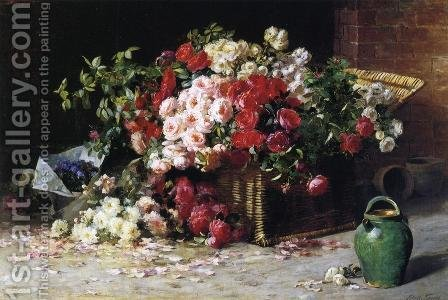 Still Life with Roses by Abbott Fuller Graves - Reproduction Oil Painting