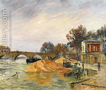 The Pont Marie de Paris by Gustave Loiseau - Reproduction Oil Painting