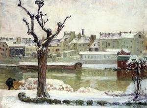 Reproduction oil paintings - Henri Lebasque - Winter in Lagny