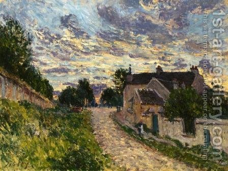 Alfred Sisley: A Path in Louveciennes - reproduction oil painting