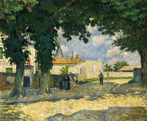 Reproduction oil paintings - Henri Lebasque - A Square in Monterain