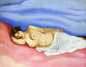 Nabis painting reproductions: Nude in Bed
