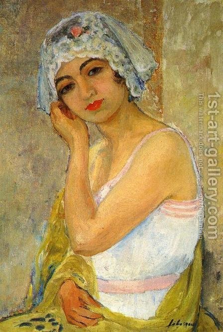 Seated Young Woman by Henri Lebasque - Reproduction Oil Painting