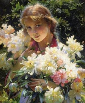 Famous paintings of Portraits: Peonies