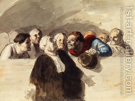The Defense Attorney by Honoré Daumier - Reproduction Oil Painting