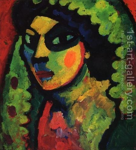 Sicilain Woman with Green Shawl by Alexei Jawlensky - Reproduction Oil Painting